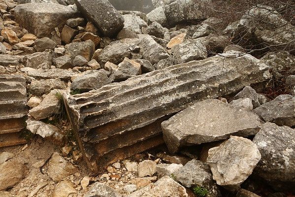 Most of the Roman columns were destroyed.