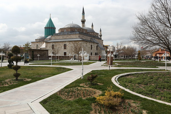 Mevlana Museum is probably the main attraction in city. It is the mausoleum of Jalal ad-Din Muhammad Rumi, also known as as Mevlâna or Rumi. He was a poet and Sufi mystic. He initiated Mevlevi order, better known as the whirling dervishes and the museum used to be a dervish lodge.