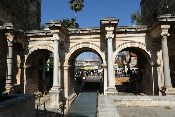 Hadrian's Gate was built in the name of the Roman emperor Hadrian, who visited the city in the year 130.