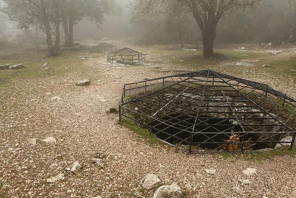 Underground water reservoirs.