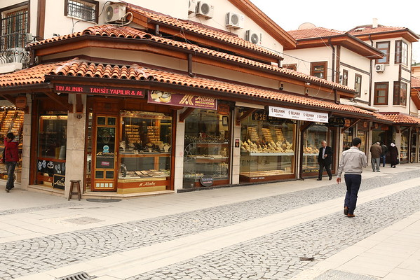 The shops were grouped based on the merchandise being sold, jewelry in this case.
