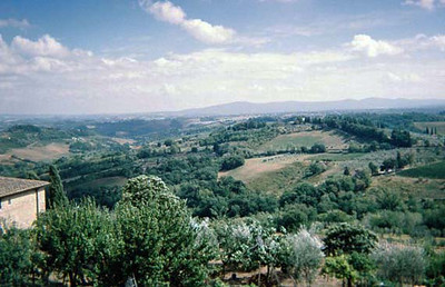 View from San Gimignano ramparts