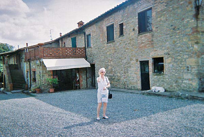 Mary in Tuscan Winery