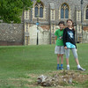 Ollie and Millie on their way to see a copy of the Magna Carta which was on display in the Cathedral over the summer.
