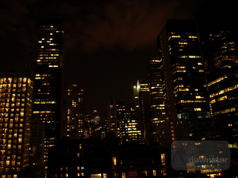 Some night/dusk shots from my hotels roof of New York City
