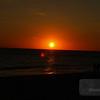 Sunset over the beach at Sarasota