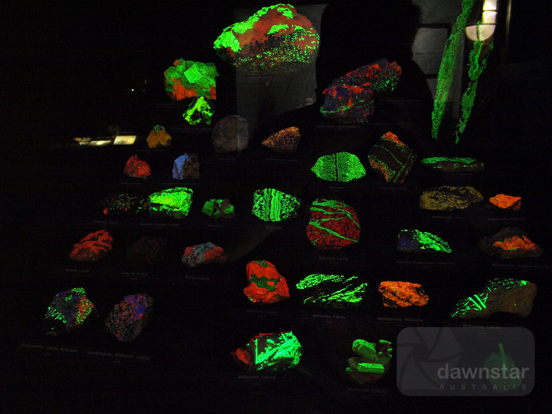 Fluorescent rocks at the Smithsonian Natural History museum