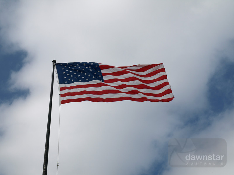 Just wouldn't be a trip to the US without at least one photo of the flag in the wind..
