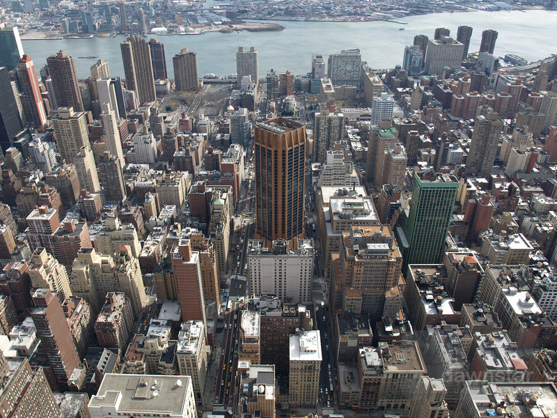 Love this shot - reminds me of Sim City. Taken from the top of the Empire State Building