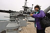 Fall River, Massachusetts - Battleship Cove - USS Massachusetts - Veena at the Guard