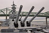 Fall River, Massachusetts - Battleship Cove - USS Massachusetts - Main Turrits