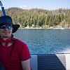 MArk on the boat to Elephants Perch, Idaho, USA