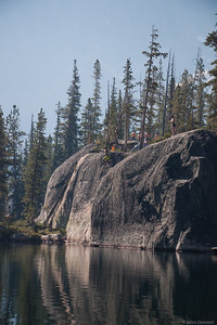 Elephants Perch, Idaho, USA Rock jump at
