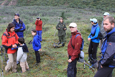 Hiking Group, Cathedral Mountain