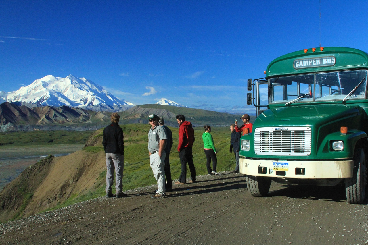Mt McKinley - our group in the foreground