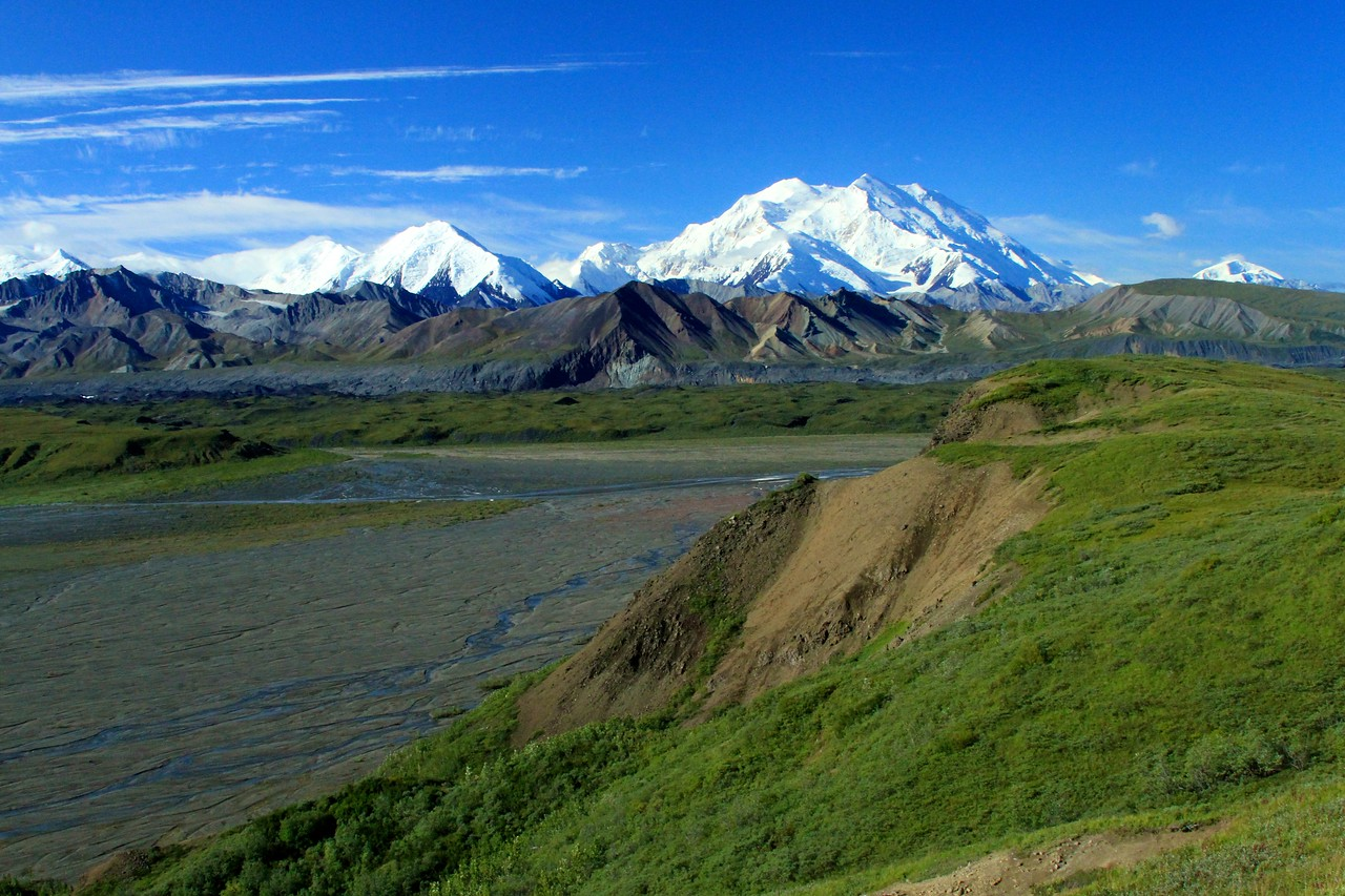 Mt McKinley from the Polychrome Overlook