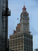 The Wrigley Building. Wrigley's started out making soap but then changed to making chewing gum.