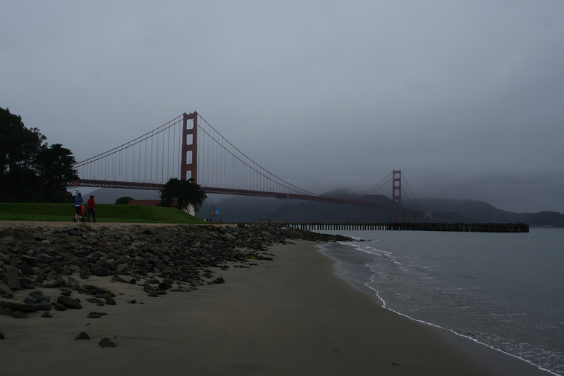 The Golden Gate Bridge viewed from Marine Drive