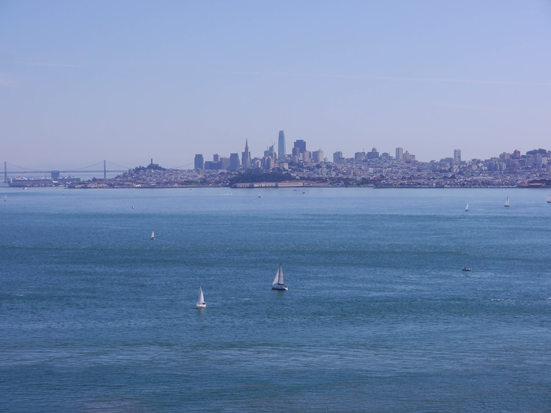 View to San Francisco from north side of Golden Gate Bridge