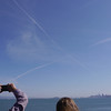 Saltire in the sky over the bay!