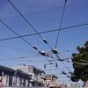 Overhead tram lines