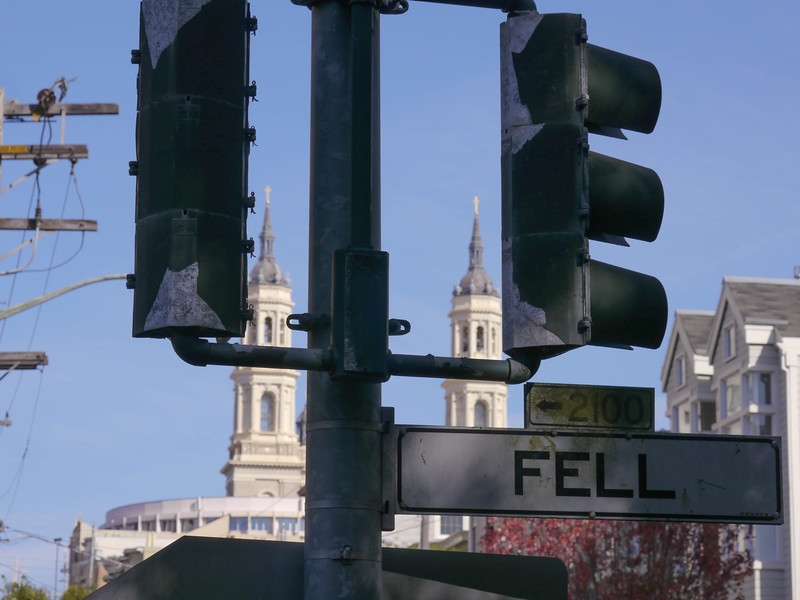 St. Ignatius Church and Fell St.