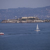 Alcatraz from the Golden Gate Bridge