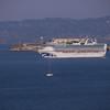 Grand Princess heads past Alcatraz