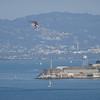 Tour helicopter heads towards Alcatraz