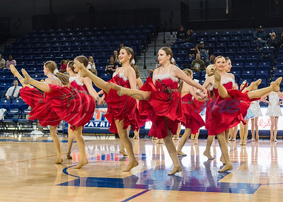 Pure Energy Dance Company performs a routine to holiday music at halftime during Christmas with the Patriots Saturday, Dec. 14, 2019, at the Louise Herrington Patriot Center in Tyler. (Cara Campbell/Tyler Morning Telegraph)