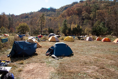 Tent city at Miguels Pizza and Camp Ground