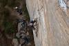 Ross on Dog leg 12a, Bob Marley Crag