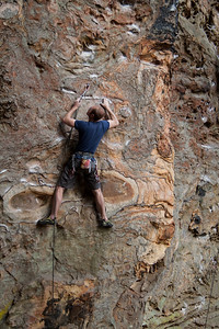 Ross on the classic Another Doug Reed Route, 5.11b at Military wall.