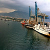 dragged in the port of palermo