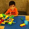 Mega blocks at Towson Library