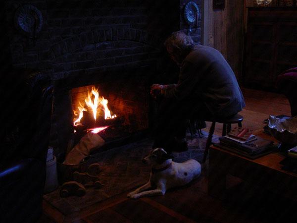 Much enjoyed Valentine evening fire.
