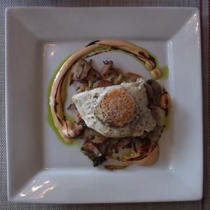 Potato Rosti, Veggie Hash and Egg
