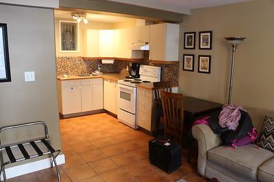 Kitchen area of Garden Suite