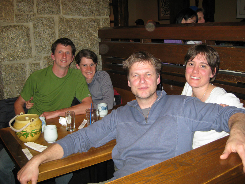 Dinner with Nichola and Stefan and Nicola, who very kindly showed us all around town and were patient with us in MEC while we shoppeed