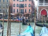A view from the hotel across the Grand Canal to the Rialto Market