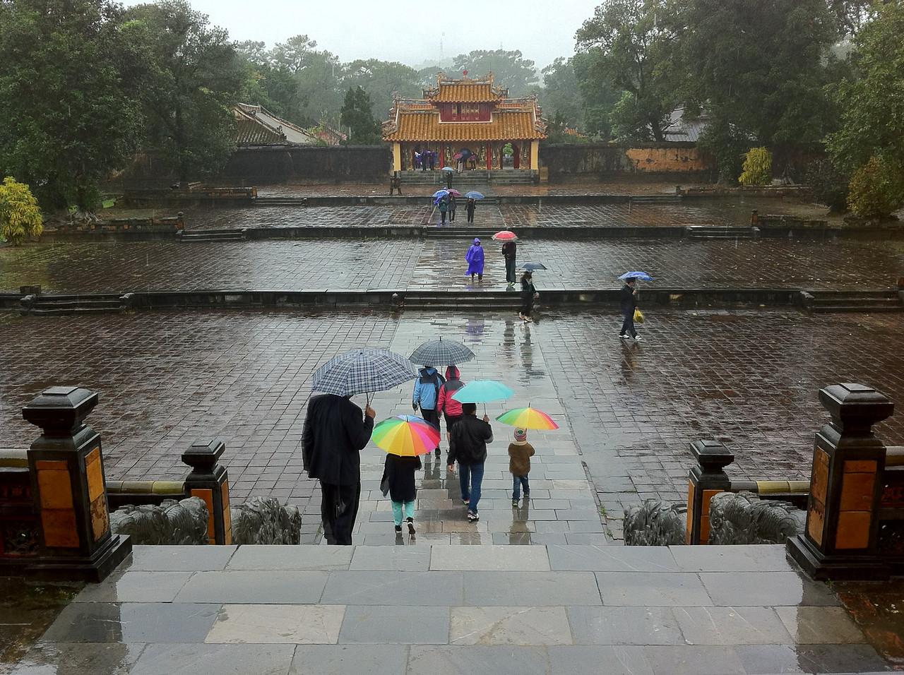 Inside the Minh Mang Mausoleum complex