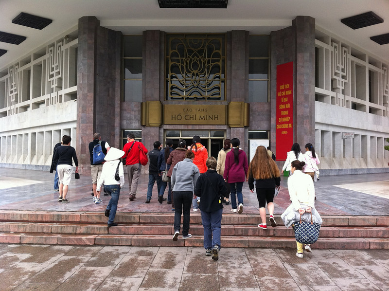 Heading into the Ho Chi Minh museum