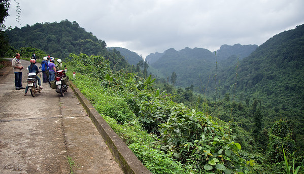 Old road across to Laos. Scene of heavy bombing during the American War