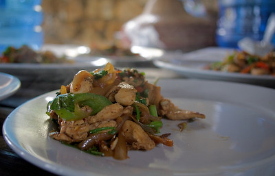 Chicken and lemongrass. After this, we had to eat it all.