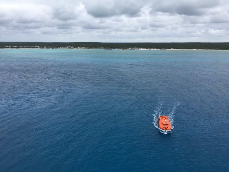 First stop: Princess Cays, Bahamas.