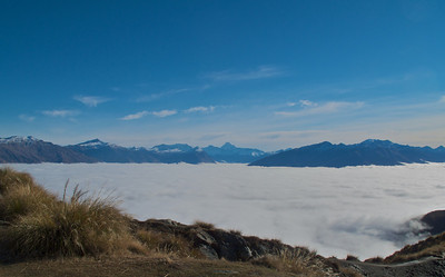 Roys Peak to Mt Aspiring above the Clouds