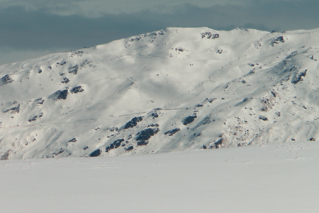 View across the Cardrona valley to the Captains Quad chairlift at Cardrona ski field