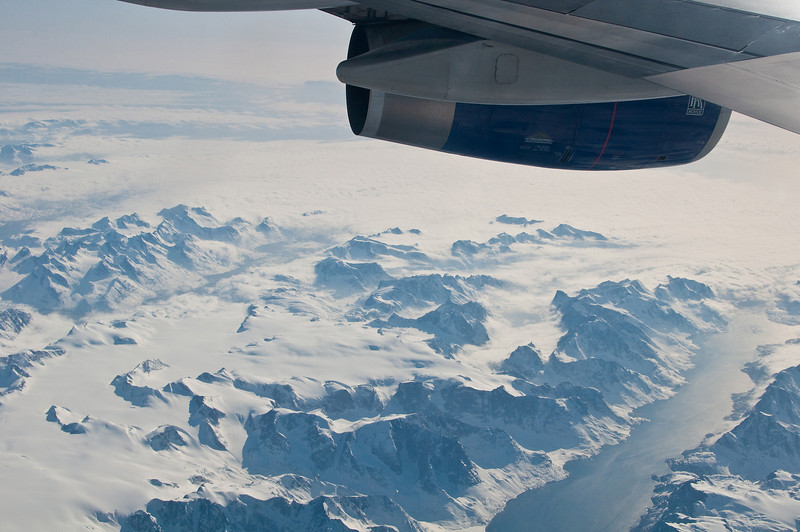 The view out the window of Greenland