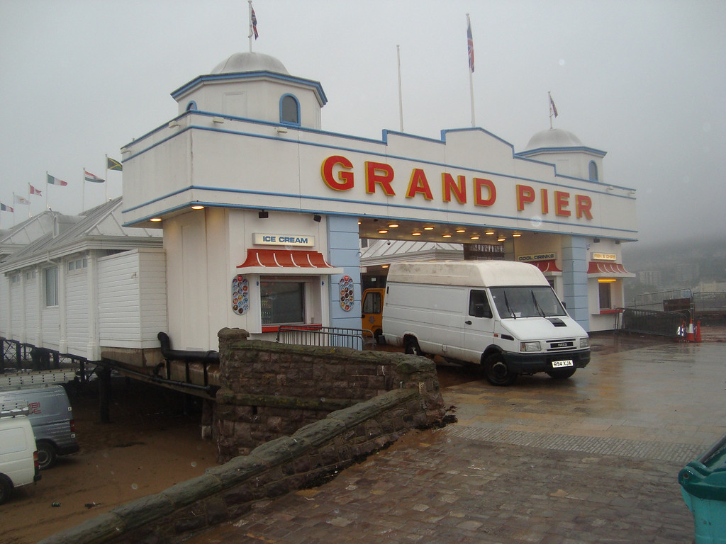 Weston pier burnt down a couple of years ago & just re-opened