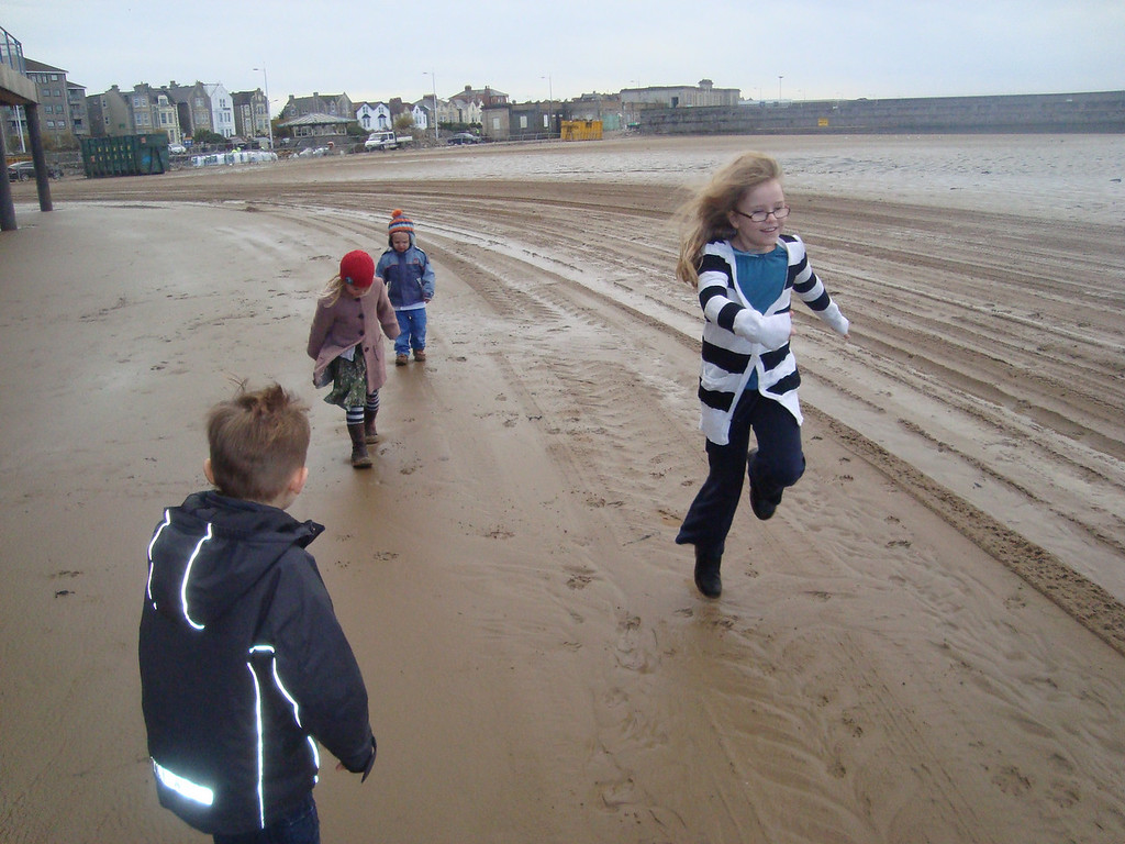 Kiddies love the seaside no matter what the weather!